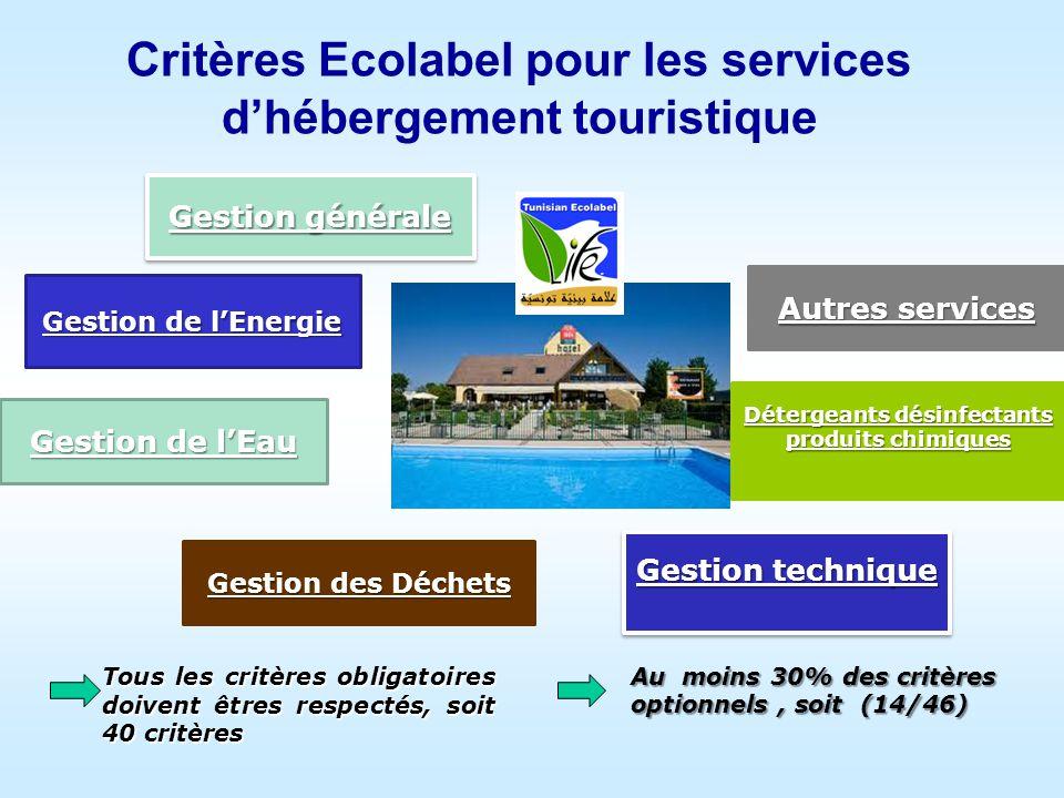 Critères Ecolabel pour les services d'hébergement touristique