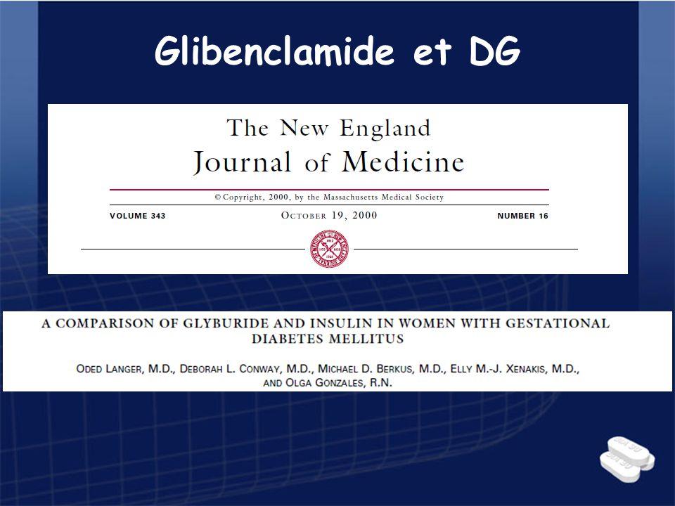 Glibenclamide et DG