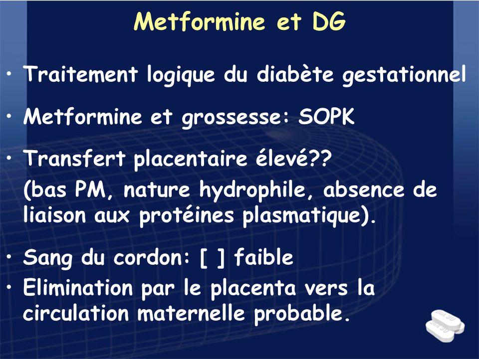 Metformine et DG Traitement logique du diabète gestationnel