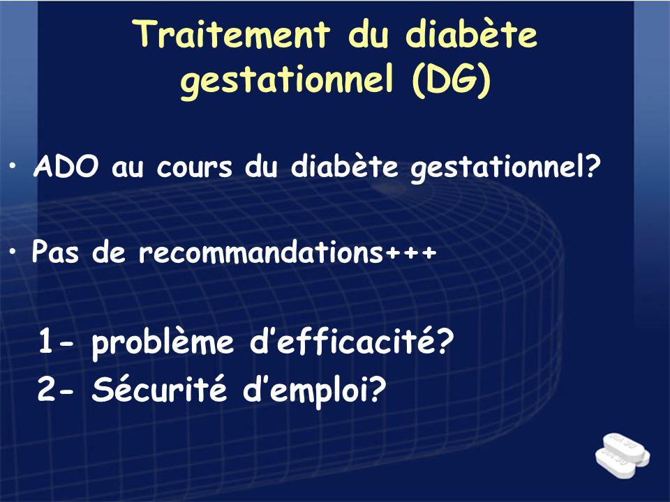 Traitement du diabète gestationnel (DG)