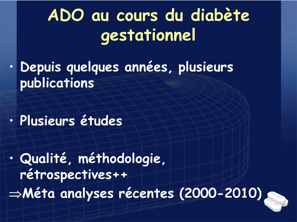 ADO au cours du diabète gestationnel