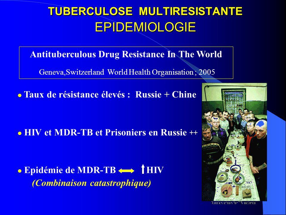 TUBERCULOSE MULTIRESISTANTE EPIDEMIOLOGIE