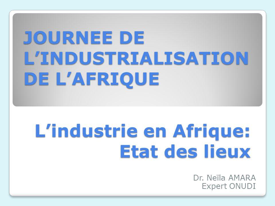L'industrie en Afrique: Etat des lieux