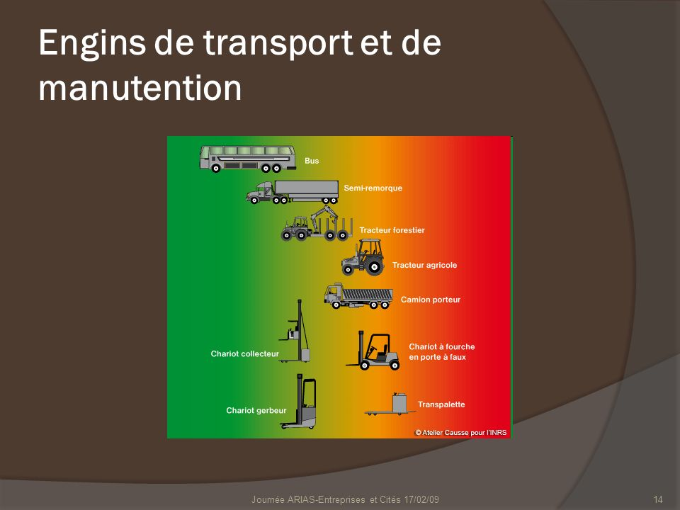 Engins de transport et de manutention