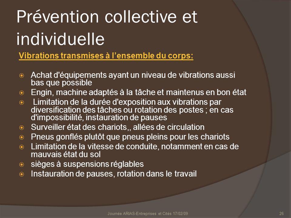 Prévention collective et individuelle