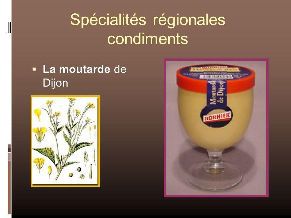 Spécialités régionales condiments