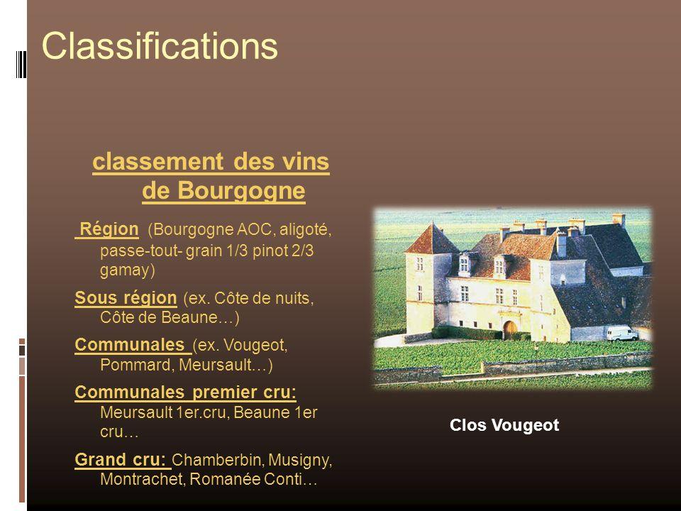classement des vins de Bourgogne