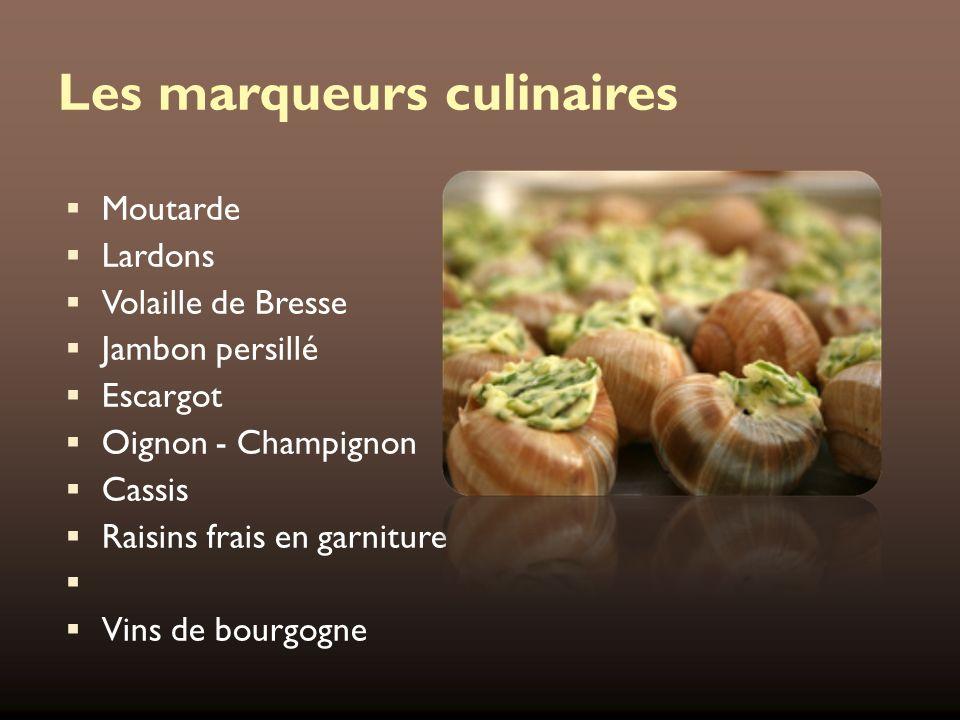 Les marqueurs culinaires