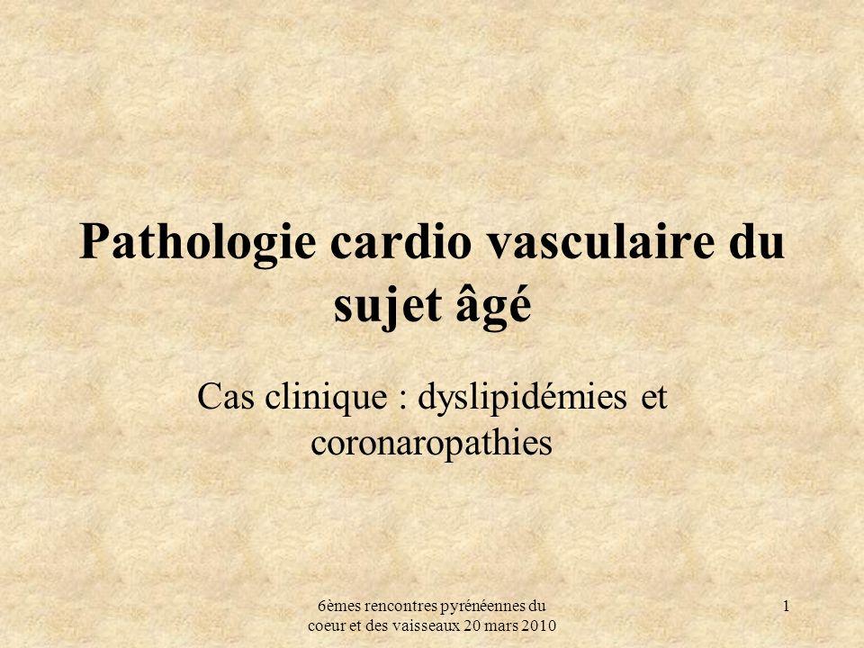 Pathologie cardio vasculaire du sujet âgé