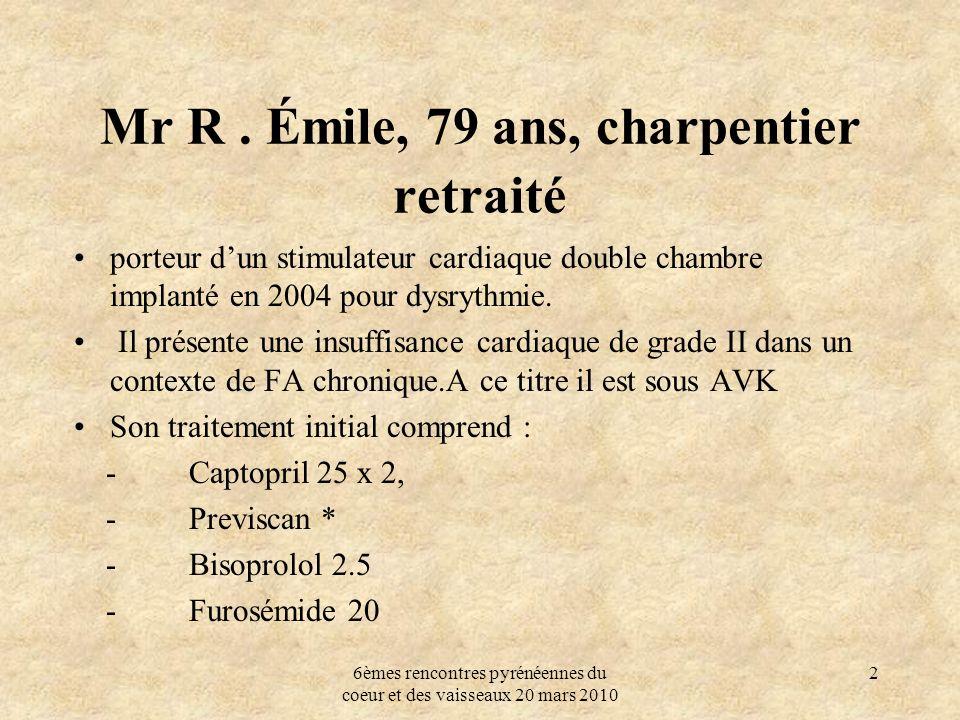 Mr R . Émile, 79 ans, charpentier retraité