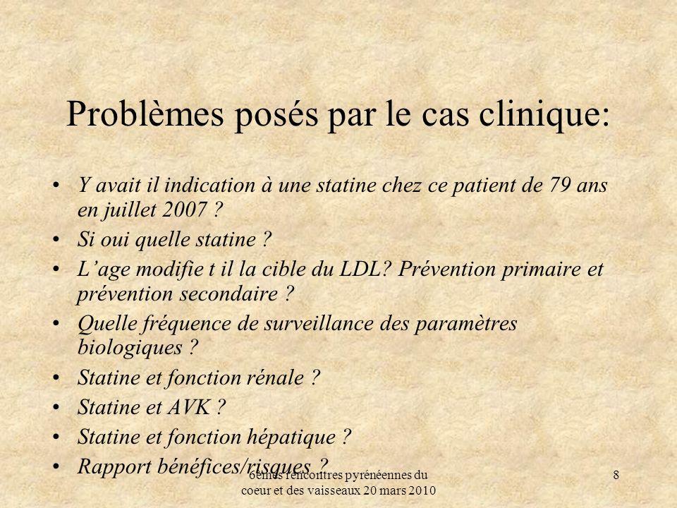 Problèmes posés par le cas clinique: