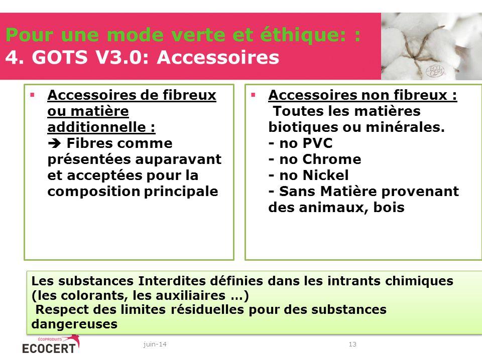 Pour une mode verte et éthique: : 4. GOTS V3.0: Accessoires