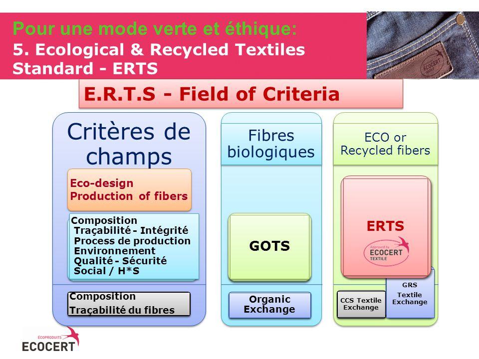 E.R.T.S - Field of Criteria