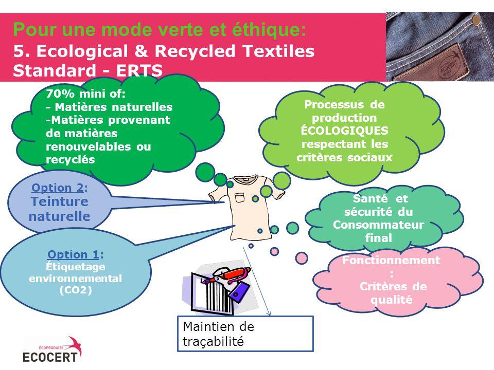 Pour une mode verte et éthique: 5