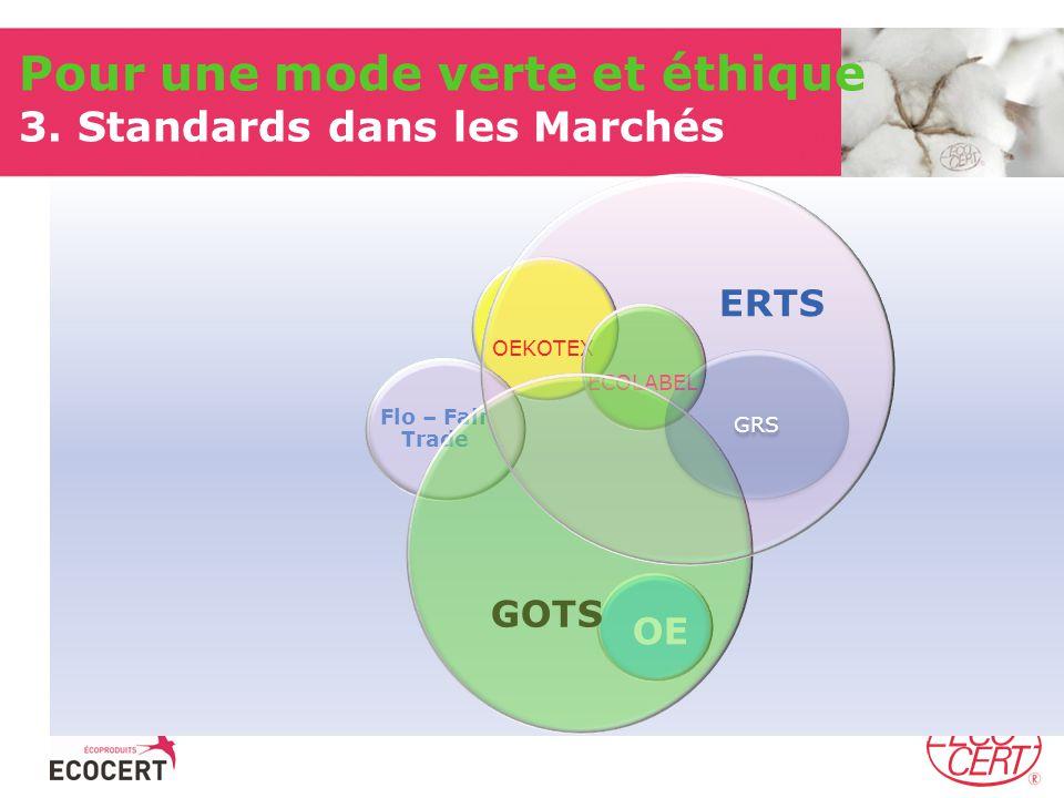 Pour une mode verte et éthique 3. Standards dans les Marchés