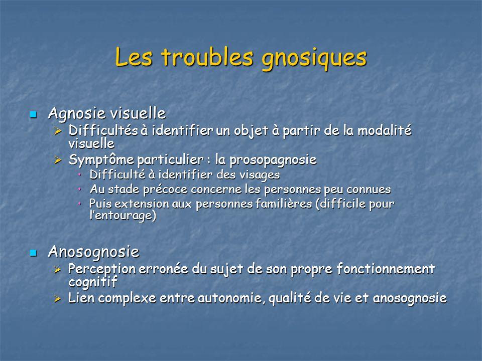 Les troubles gnosiques