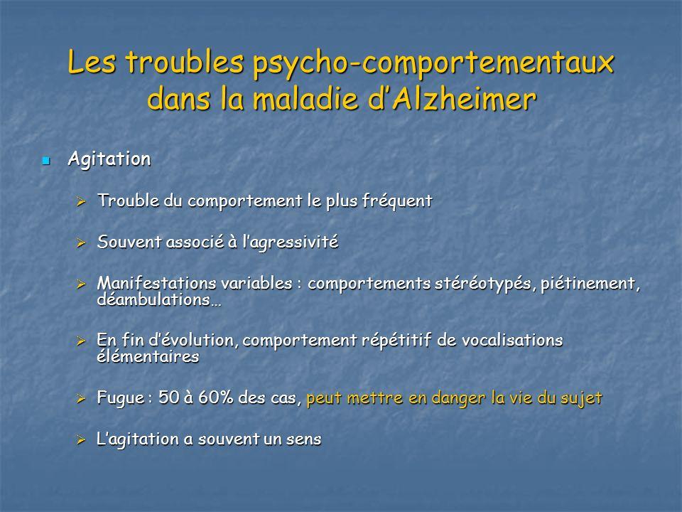 Les troubles psycho-comportementaux dans la maladie d'Alzheimer