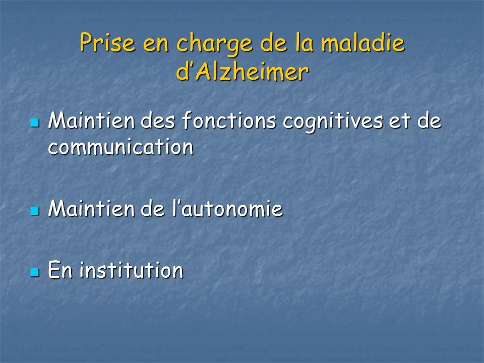 Prise en charge de la maladie d'Alzheimer