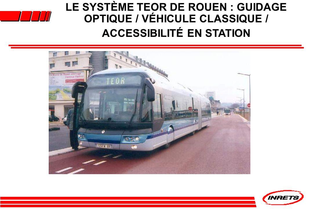 LE SYSTÈME TEOR DE ROUEN : GUIDAGE OPTIQUE / VÉHICULE CLASSIQUE / ACCESSIBILITÉ EN STATION