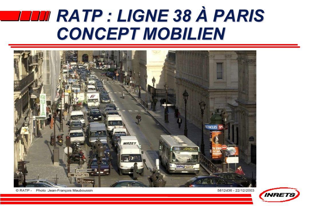 RATP : LIGNE 38 À PARIS CONCEPT MOBILIEN