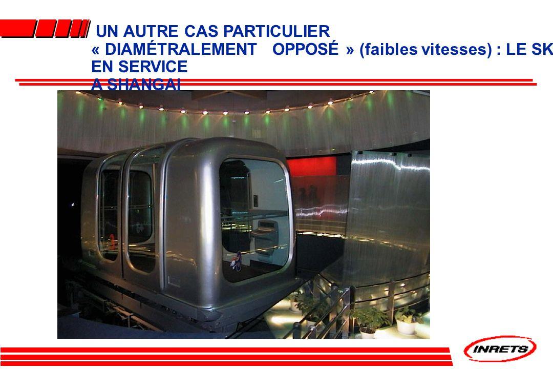 UN AUTRE CAS PARTICULIER « DIAMÉTRALEMENT OPPOSÉ » (faibles vitesses) : LE SK EN SERVICE
