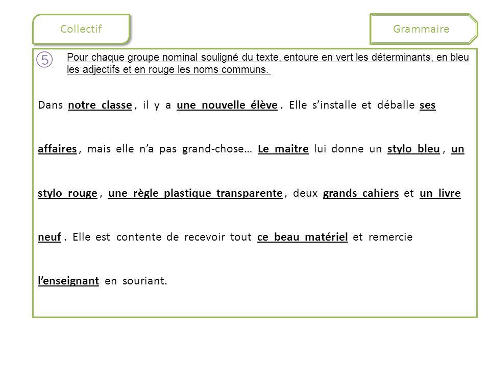 Grammaire Collectif.