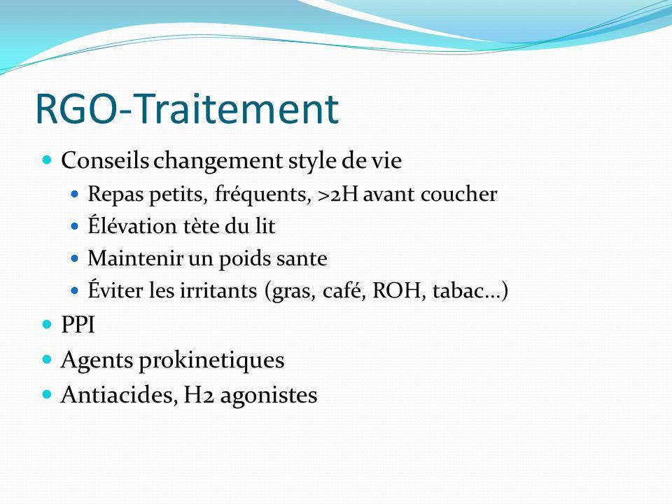 RGO-Traitement Conseils changement style de vie PPI