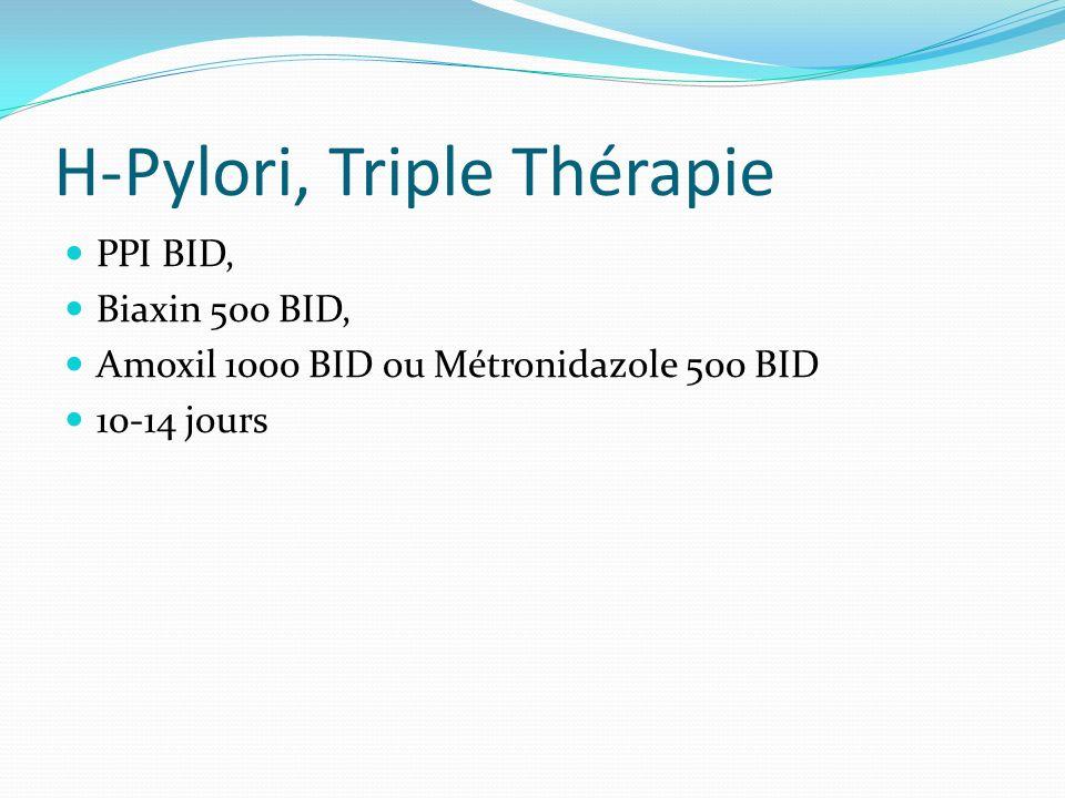 H-Pylori, Triple Thérapie