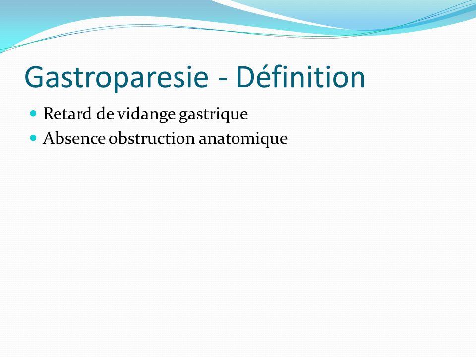 Gastroparesie - Définition