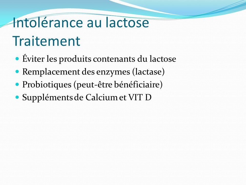 Intolérance au lactose Traitement