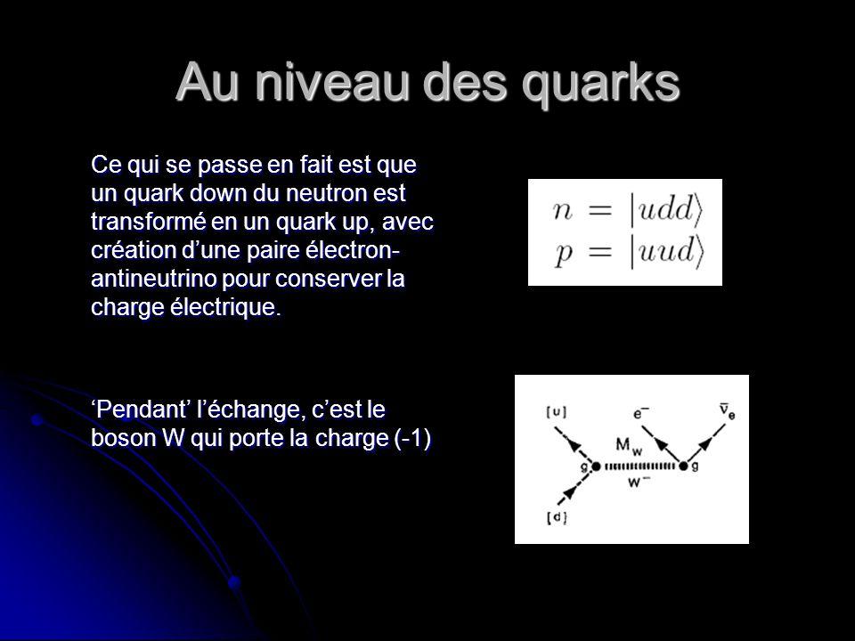 Au niveau des quarks