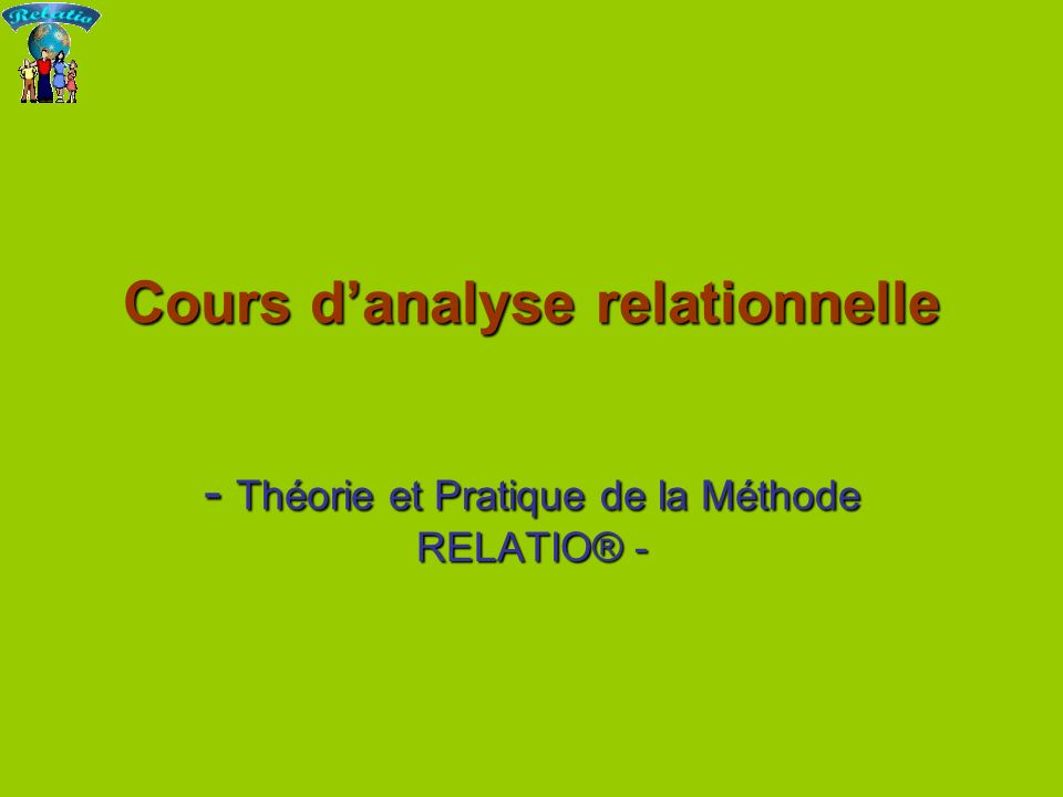 Cours d'analyse relationnelle