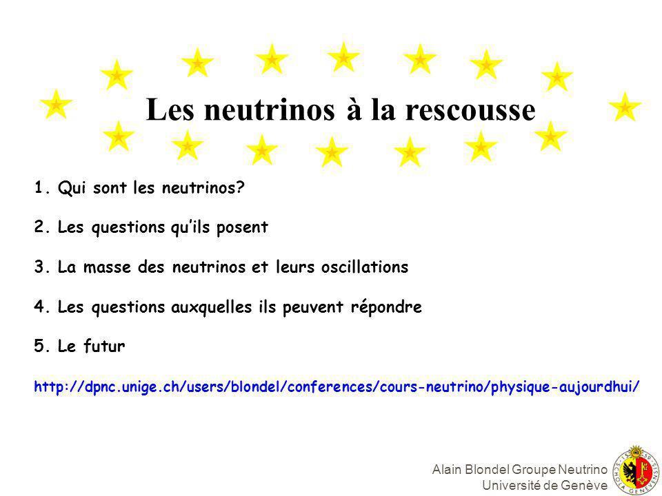 Les neutrinos à la rescousse