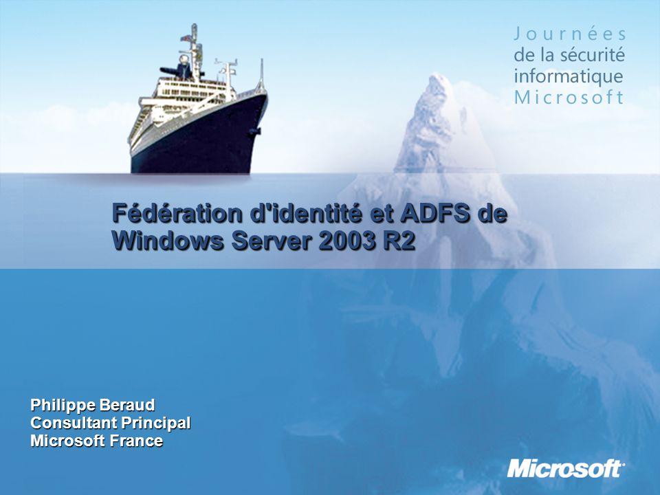 Fédération d identité et ADFS de Windows Server 2003 R2