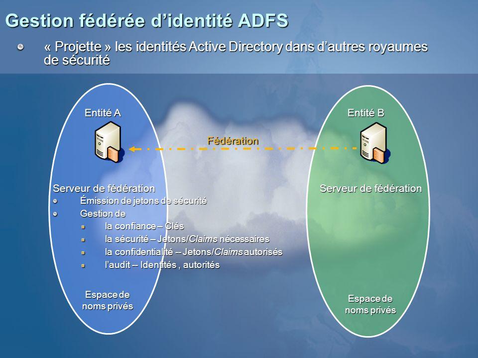 Gestion fédérée d'identité ADFS
