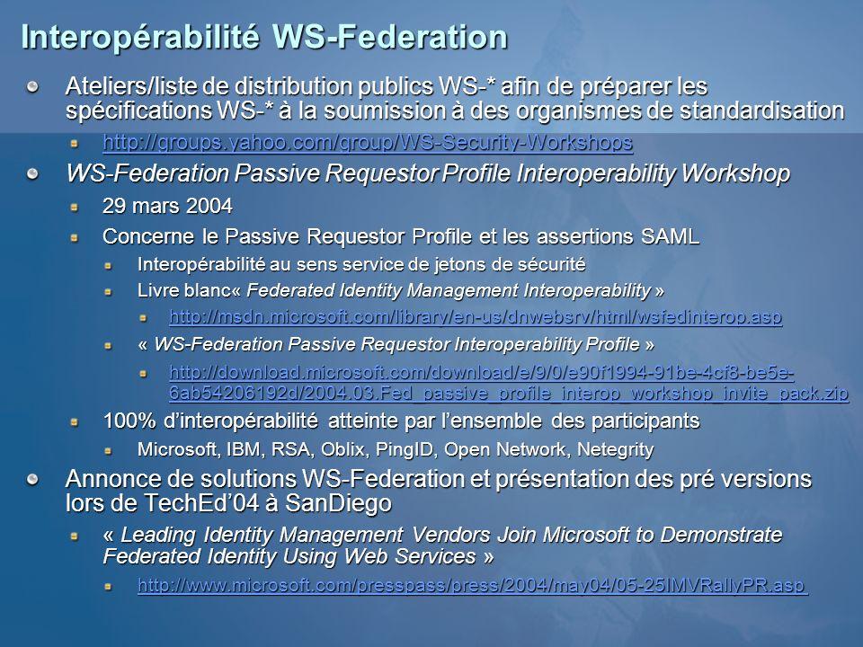 Interopérabilité WS-Federation