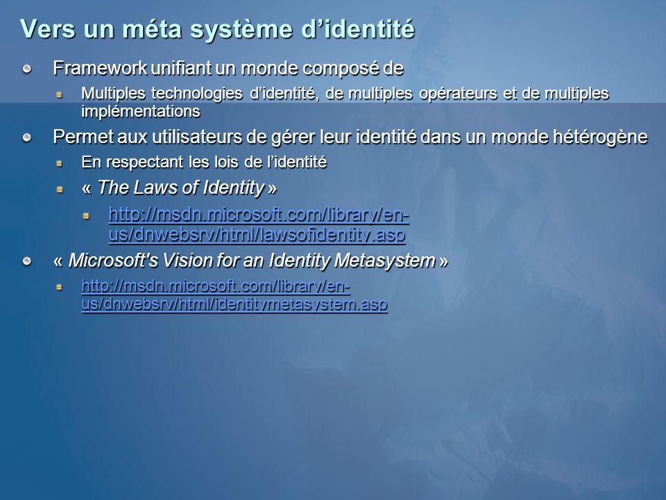 Vers un méta système d'identité
