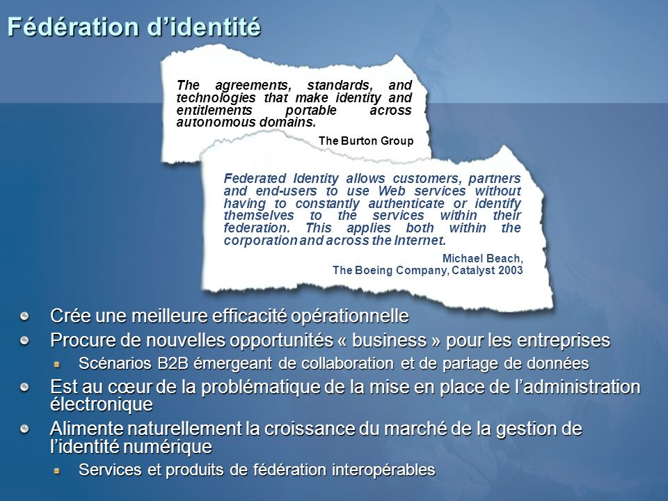 Fédération d'identité