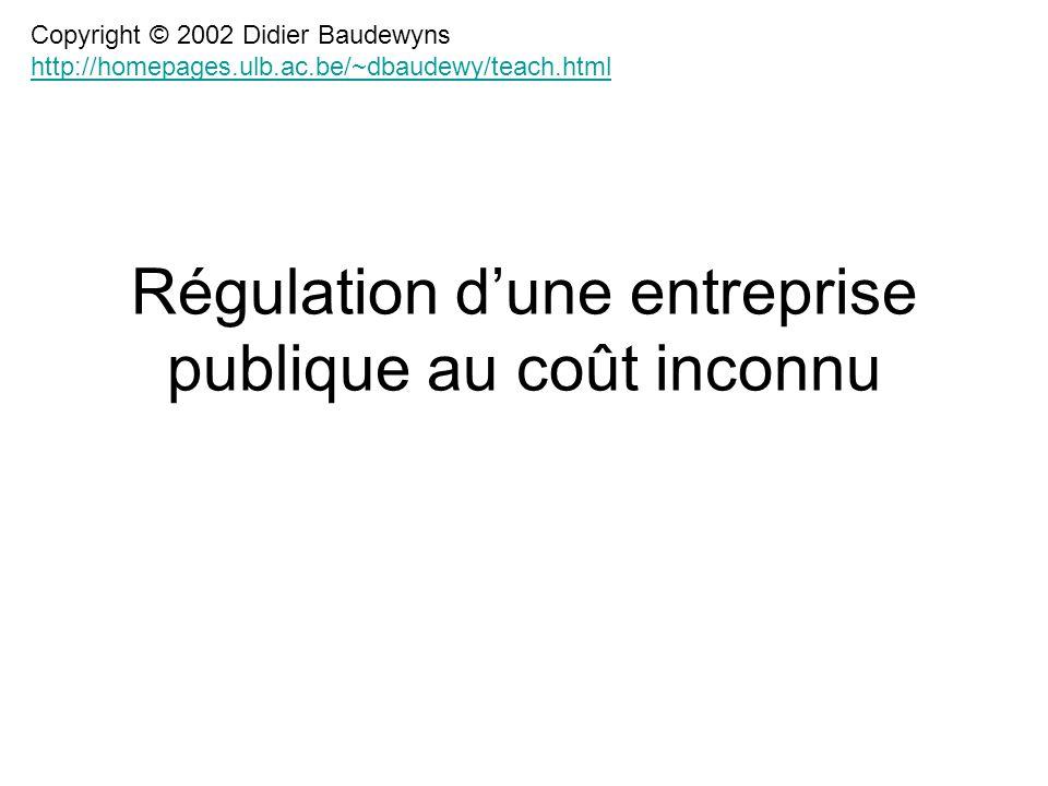 Régulation d'une entreprise publique au coût inconnu