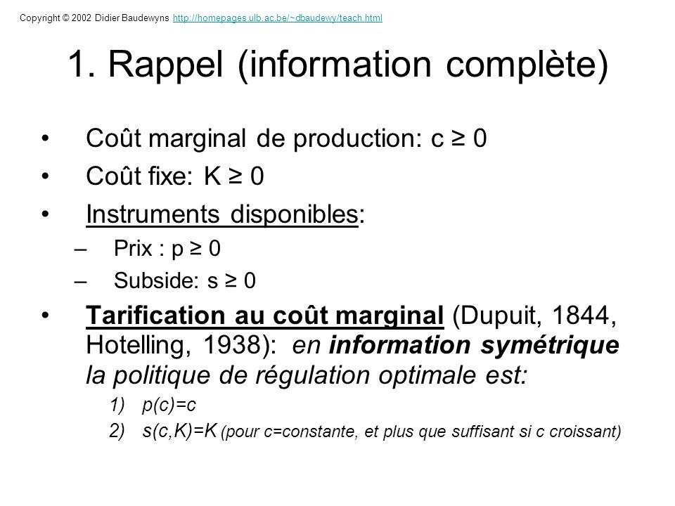 1. Rappel (information complète)