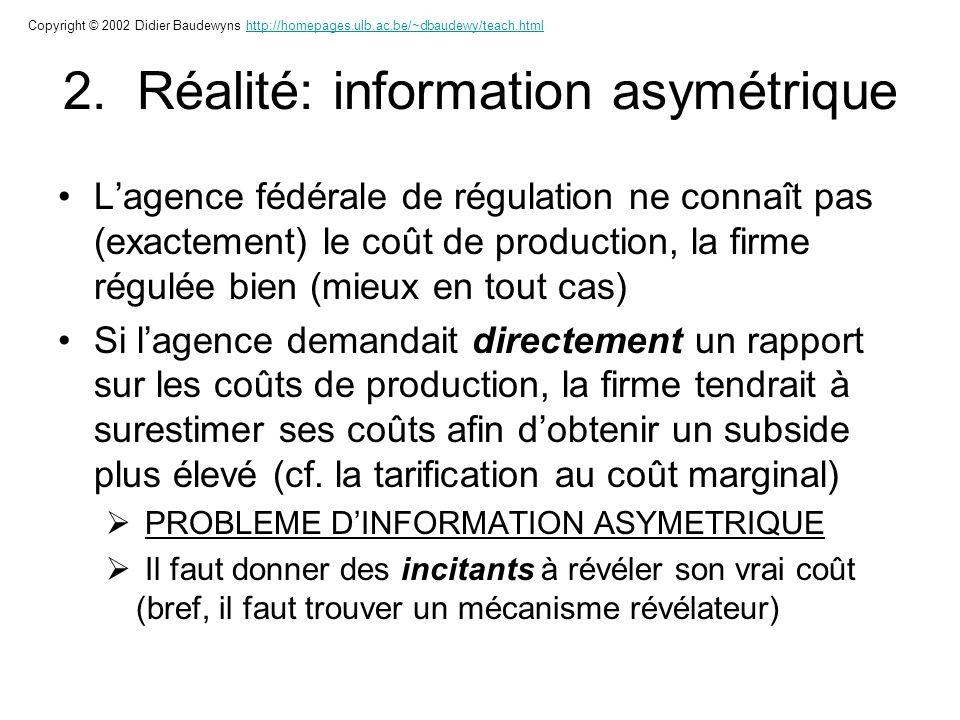 2. Réalité: information asymétrique