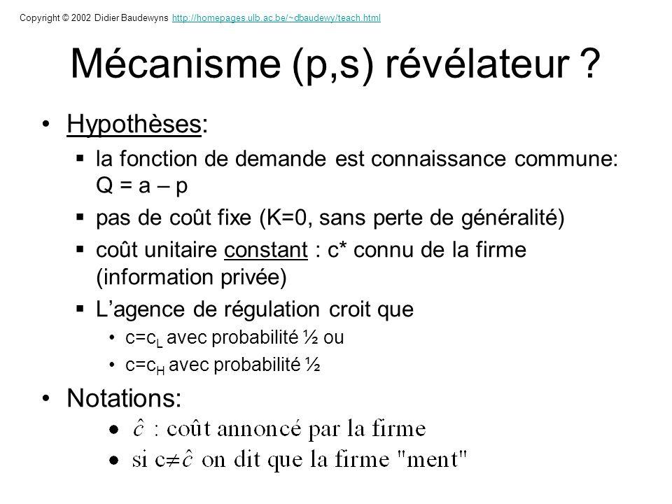 Mécanisme (p,s) révélateur