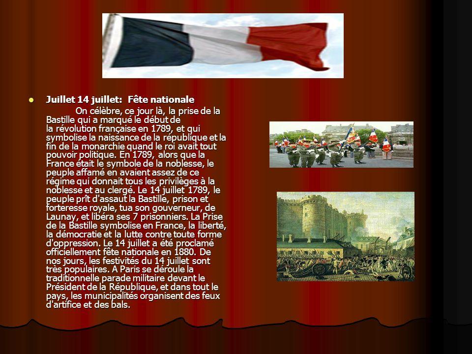 Juillet 14 juillet: Fête nationale