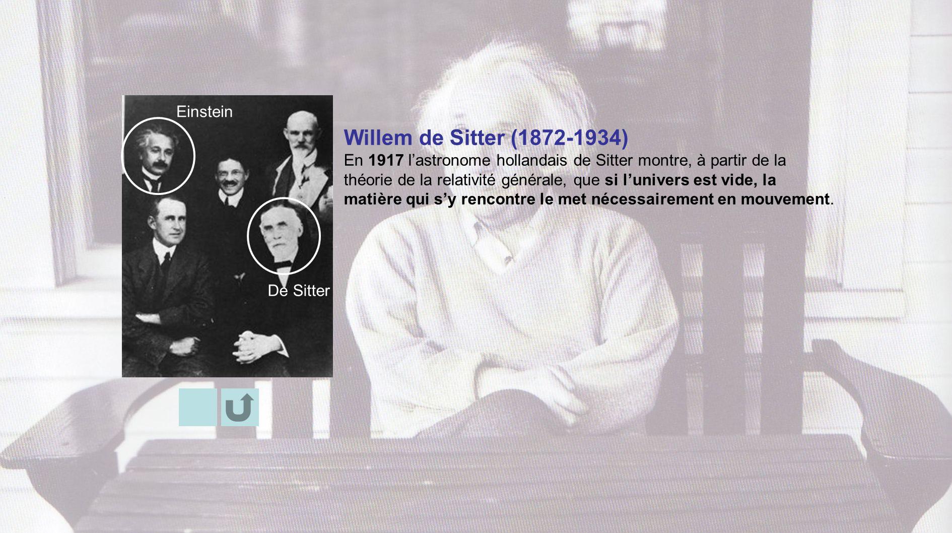 Willem de Sitter (1872-1934) Einstein