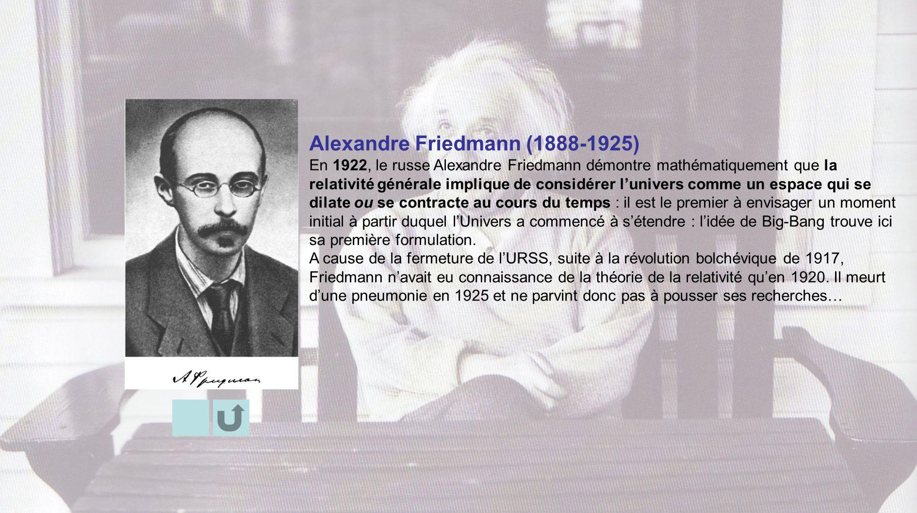 Alexandre Friedmann (1888-1925)