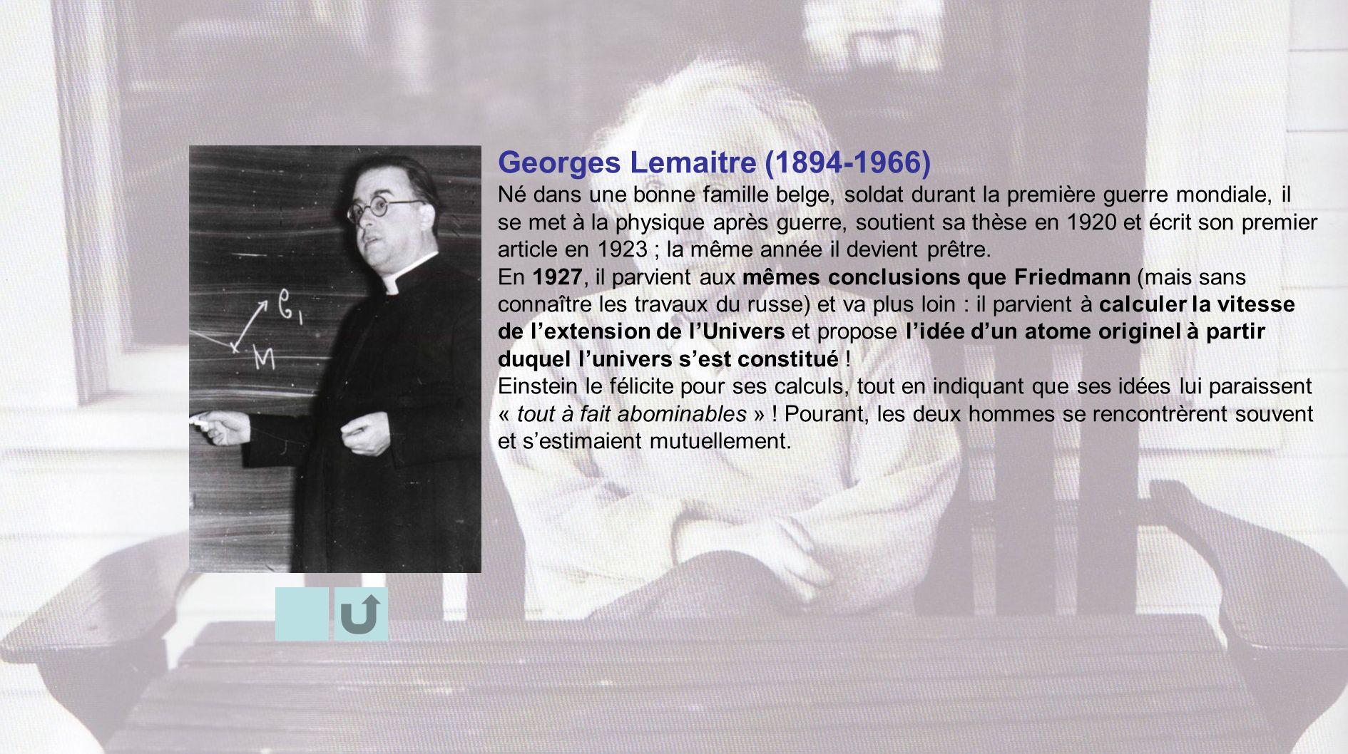 Georges Lemaitre (1894-1966)