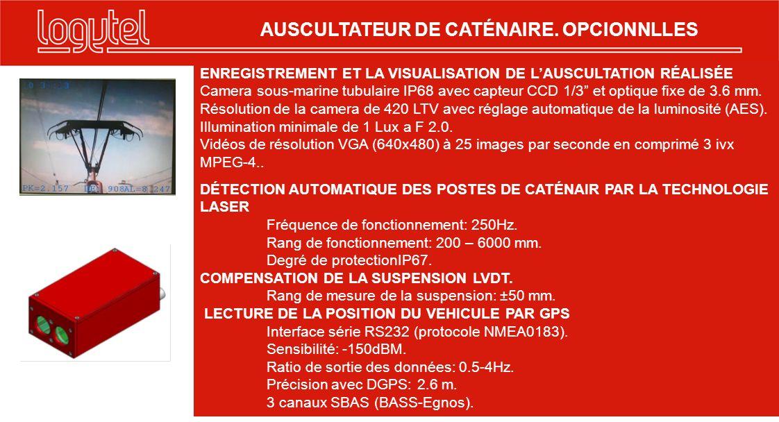 AUSCULTATEUR DE CATÉNAIRE. OPCIONNLLES
