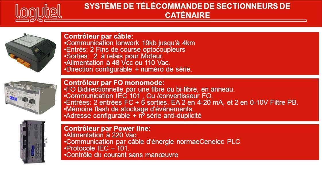 SYSTÈME DE TÉLÉCOMMANDE DE SECTIONNEURS DE CATÉNAIRE
