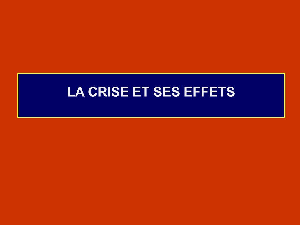 LA CRISE ET SES EFFETS