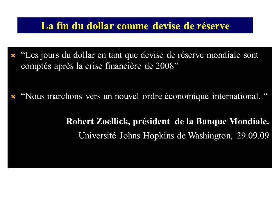 La fin du dollar comme devise de réserve
